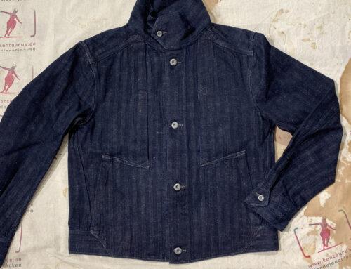 MotivMfg shipyard type1-jacket herringbone indigo denim