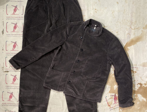 First Pat-rn  jacket belka und hose strelka 2teiliger Damen- Anzug Nadelcord grau