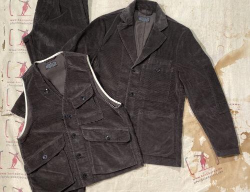 First Pat-rn 3teiliger Anzug needlecord grey