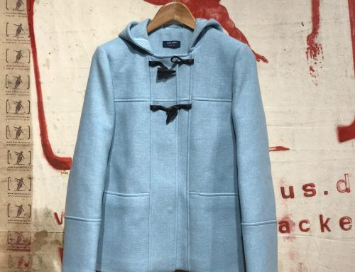 Saint James  st. nolwenn coat light blue