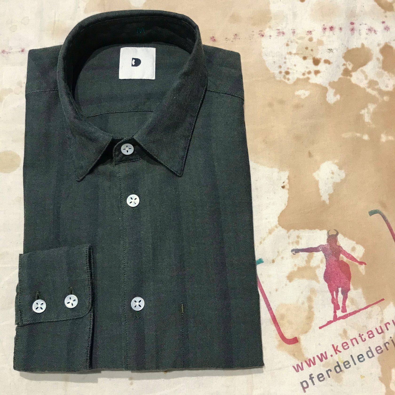 Delikatessen green flannel shirt stripe