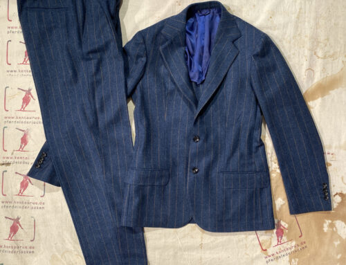 Salvatore Piccolo toledo jacket and marcello pant wool blue striped