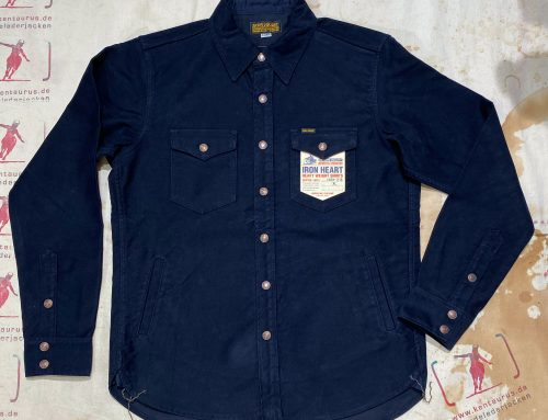 IHSH-216  moleskin cpo shirt navy