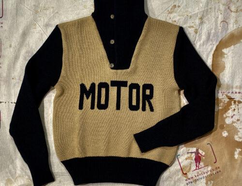 A Piece of Chic murderdrome heavy wool knit jumper black- beige