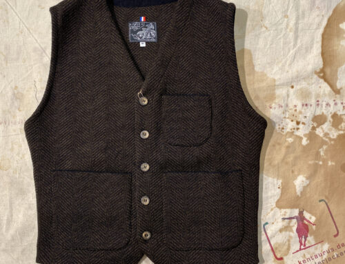 A Piece of Chic cosby wool knit vest tweed brown