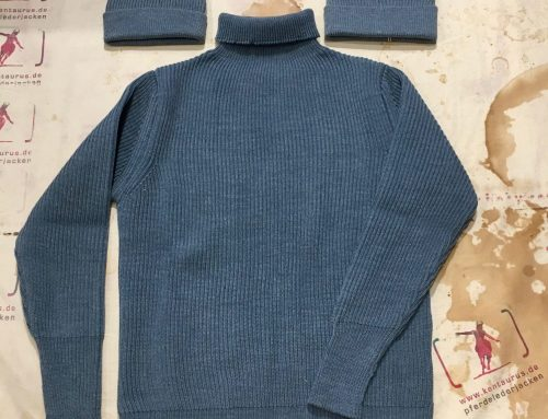 Andersen&Andersen crew neck turtleneck pullover light indigo