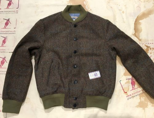 Reds bomber jacket tweed