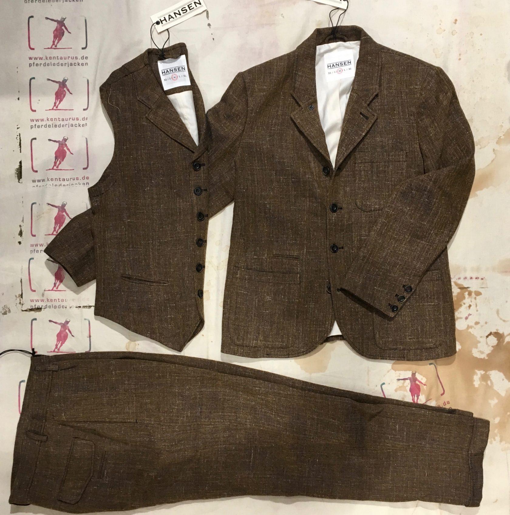 Hansen 3 piece suit cognac