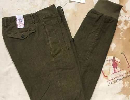 Reds ribbed chino olive
