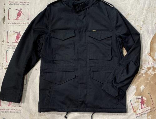 Iron Heart IHM-27 black sateen M65 field jacket