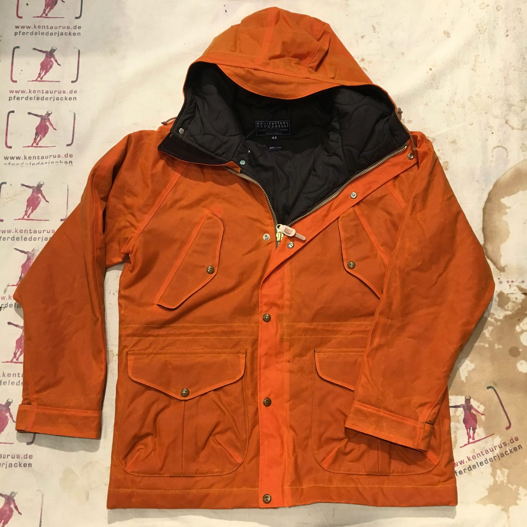 Ceccarelli new fisherman down parka orange