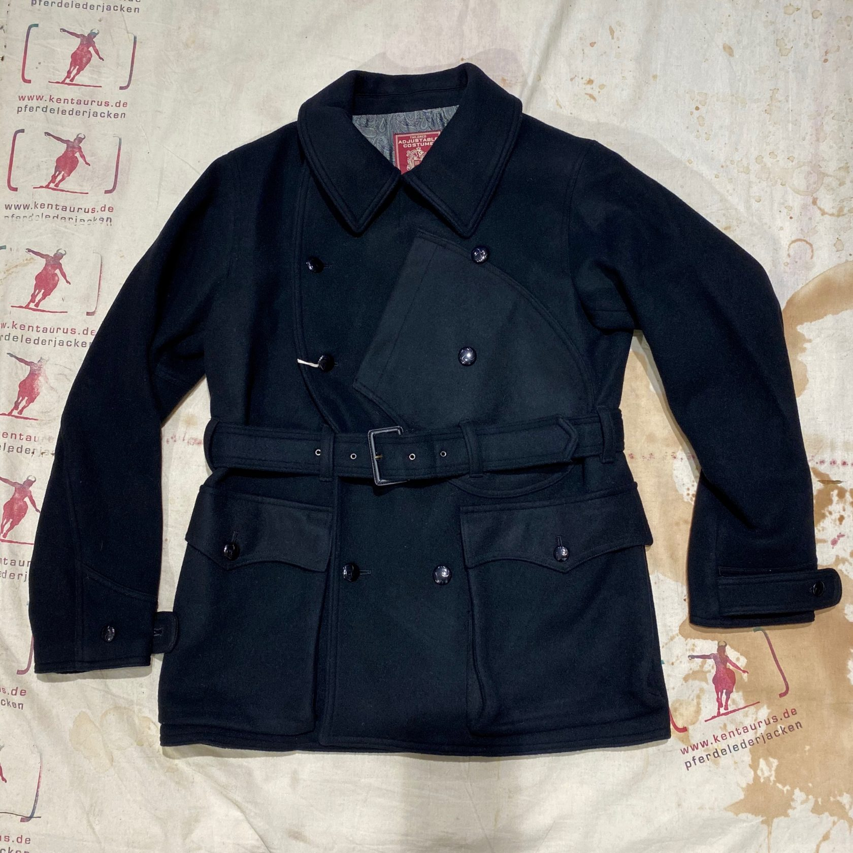 Adjustable Costume: 1920`s aviator wool jacket