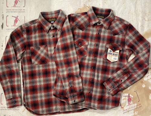 Iron Heart IHSH-300 and IHSH-310 ultra heavy flannel western and work  shirt