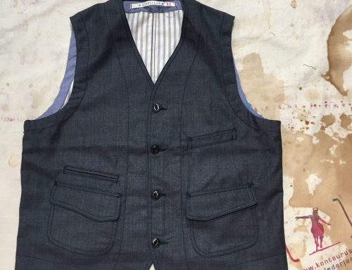 Scartilab AW17 wool vest blue