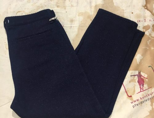 Momotaro/Setto indigo silk tapered pants