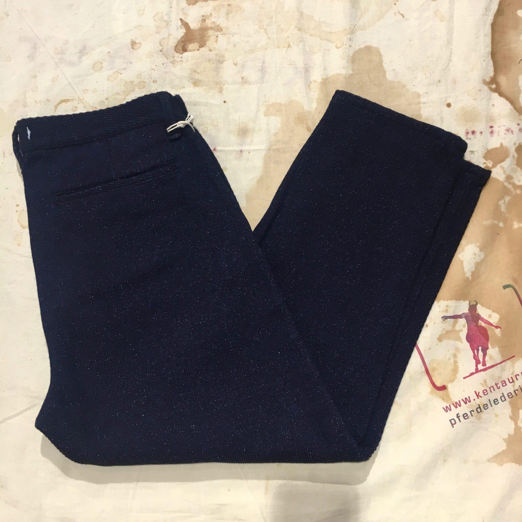 Momotaro/Setto indigo silk tapered pants
