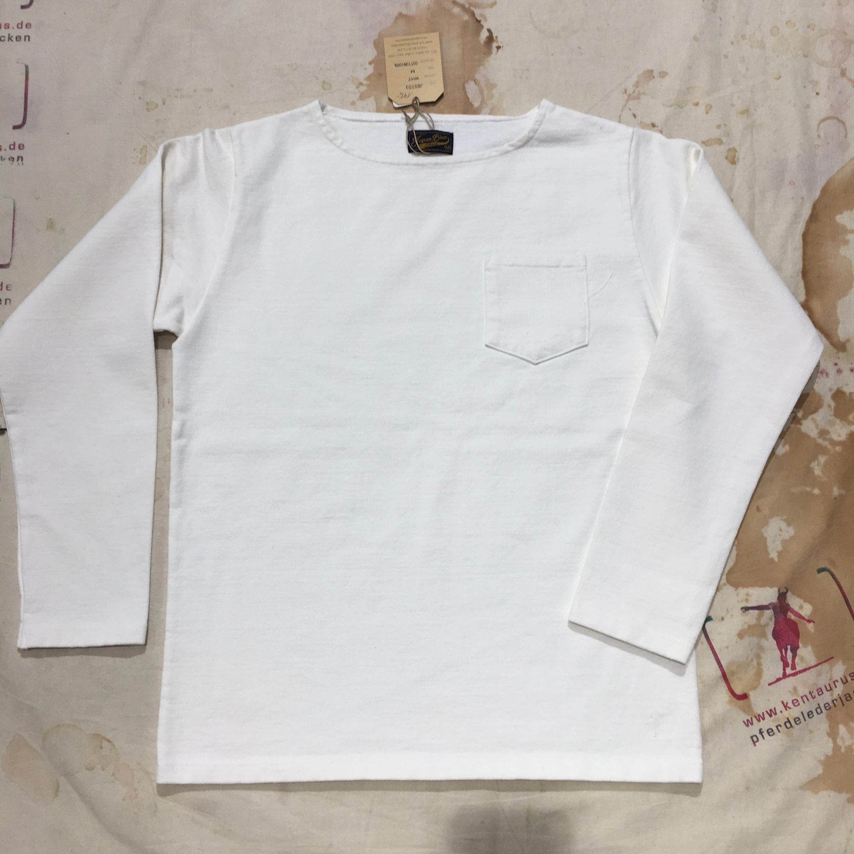 Japan Blue longsleeve white