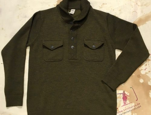 G.R.P. wool henley olive