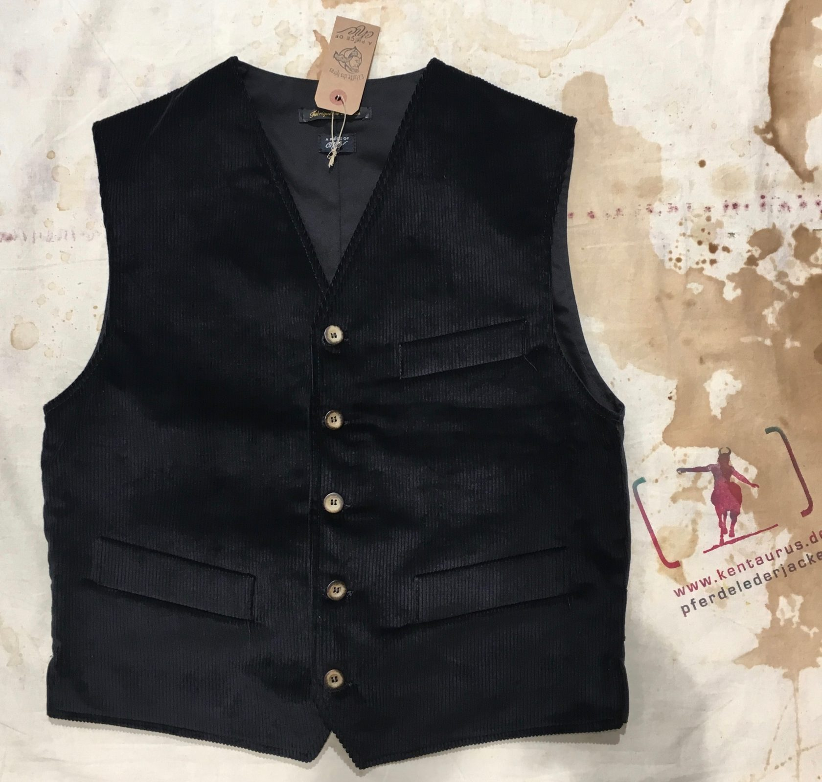 A Piece of Chic black cord vest
