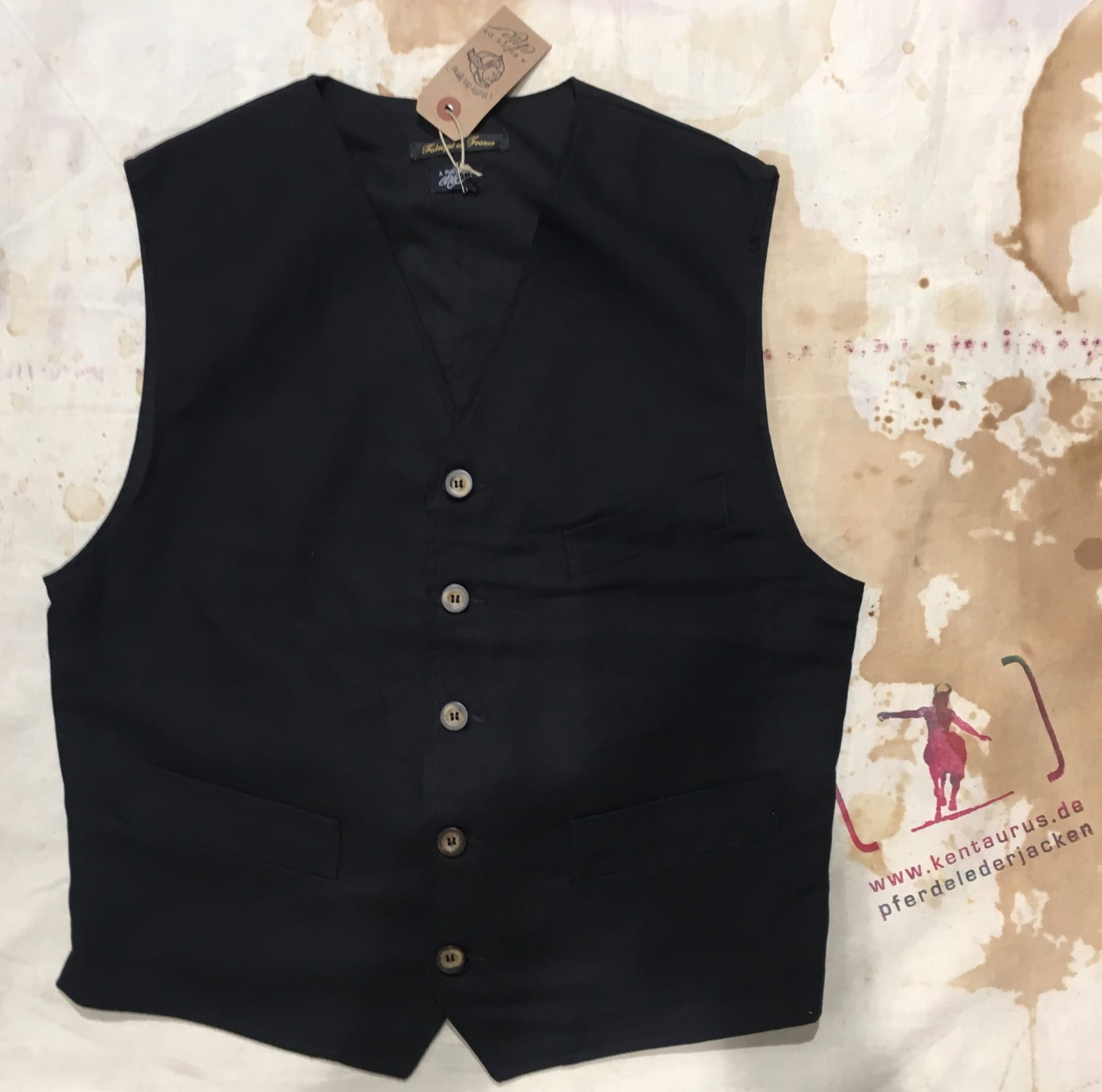 A Piece of Chic rustic vest black