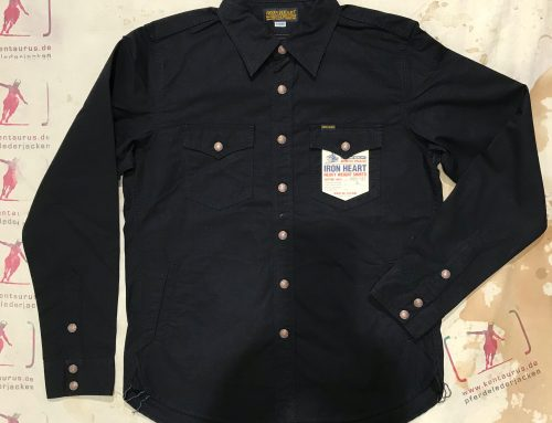 IHSH-187 black cotton ripstop CPO shirt