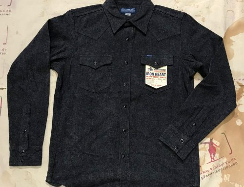 IHSH-188 grey cotton herringbone western shirt