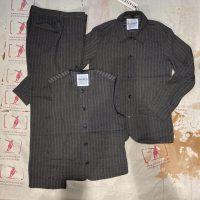 Hansen dreiteiliger Anzug taupe stripes