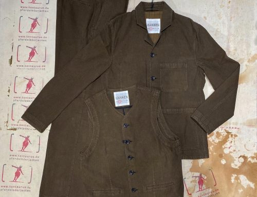 Hansen dreiteiliger work suit nut