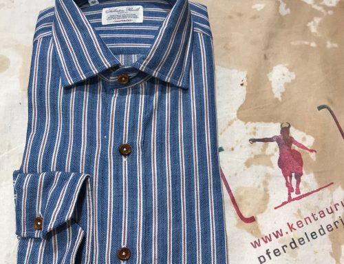 S. Piccolo TXP 715H striped shirt