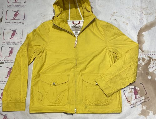 Ceccarelli blazer coat with hood yellow