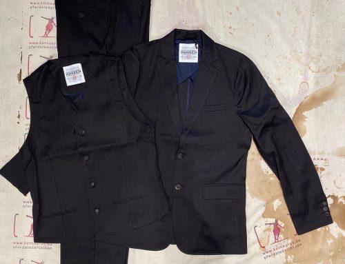 Hansen 3 piece summer suit dark coffee