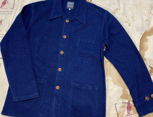 Momotaro sashiko french work jacket indigo