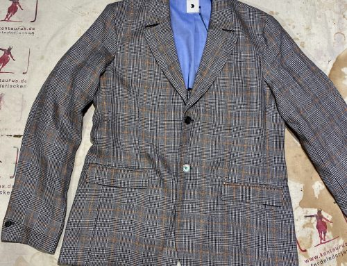 Delikatessen checkered linen jacket