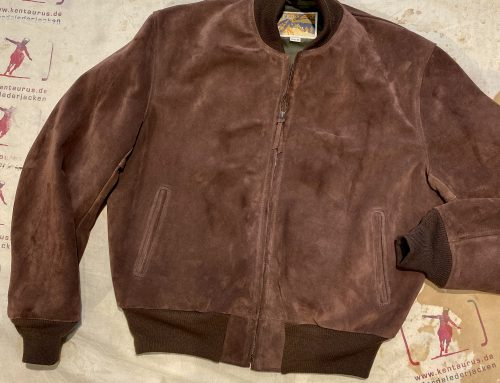 Aero, type 50`s Flightjacket suede leather