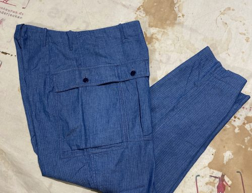 Haversack herringbone denim pant
