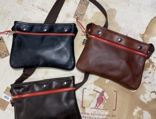 Croots vintage leather sacocht shoulder bag