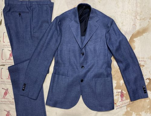 Salvatore Piccolo 2 piece suit blue linen