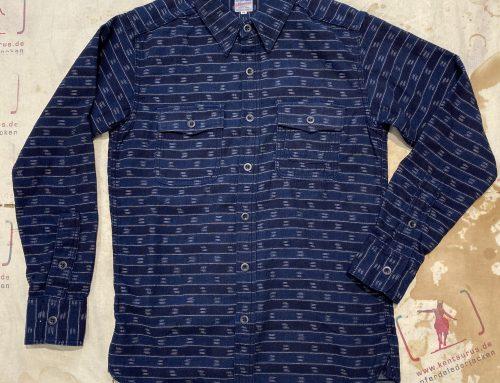 Momotaro indigo jacquard shirt