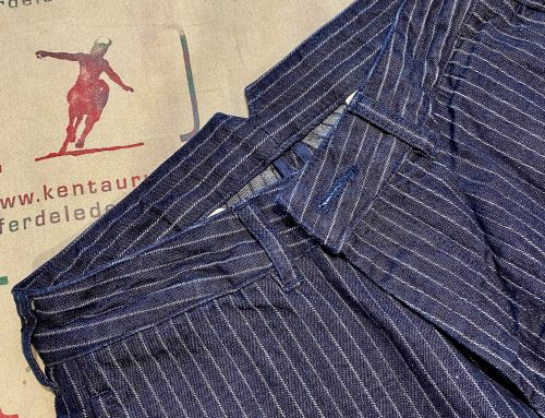 Momotaro 01-076 denim stripe trousers