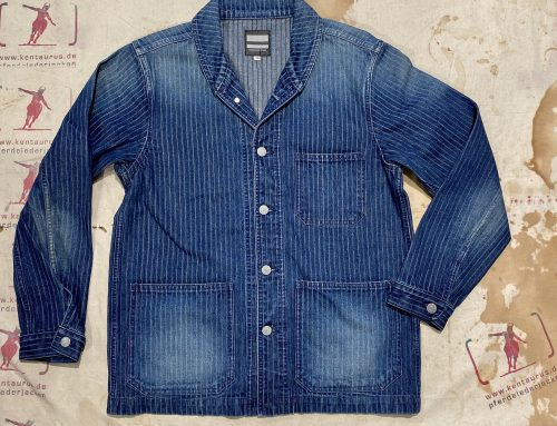 Momotaro denim stripe jacket