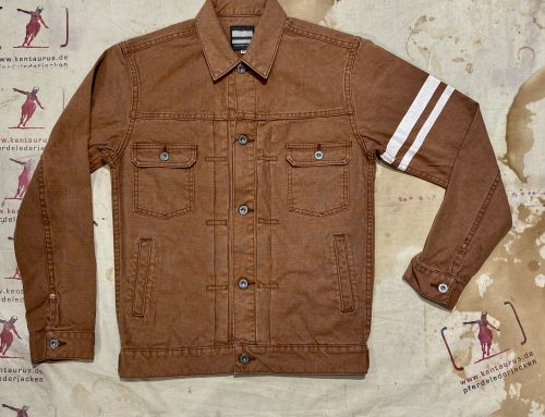 Momotaro type 2nd GTB duck jacket brown