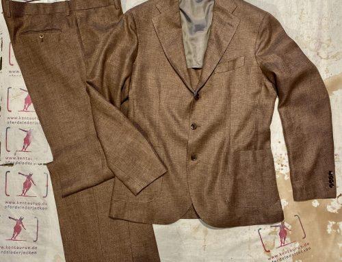 Salvatore Piccolo 2 piece linen suit  tan