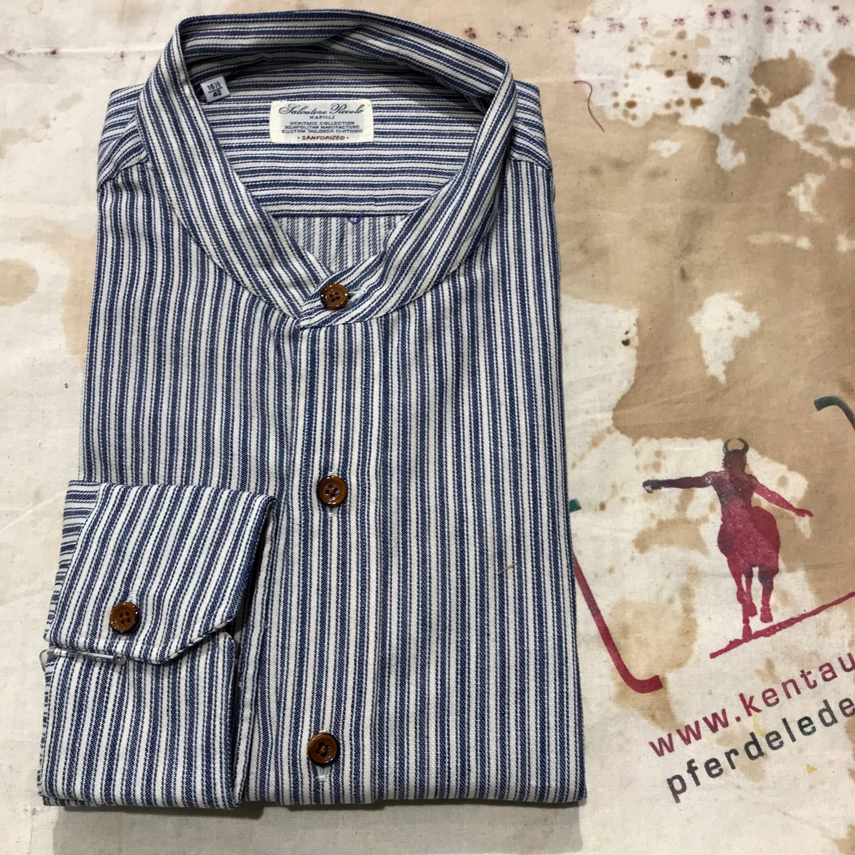 S. Piccolo TXP 714 H striped shirt