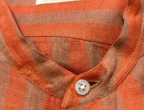 S. Piccolo R-VT/BE40 striped linen shirt