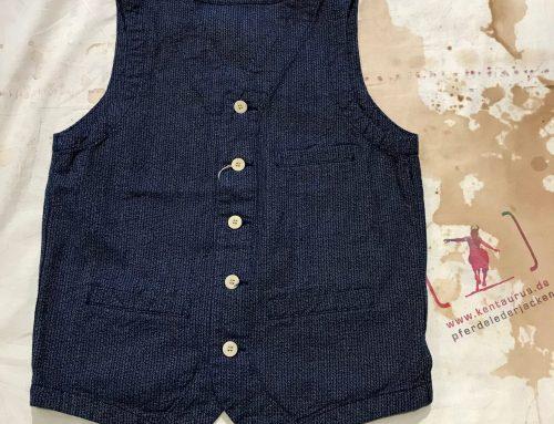 Japan Blue JBVB04 urban vest blue