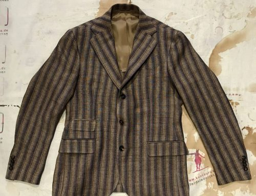 S.Piccolo striped linen jacket G-R/ST 21