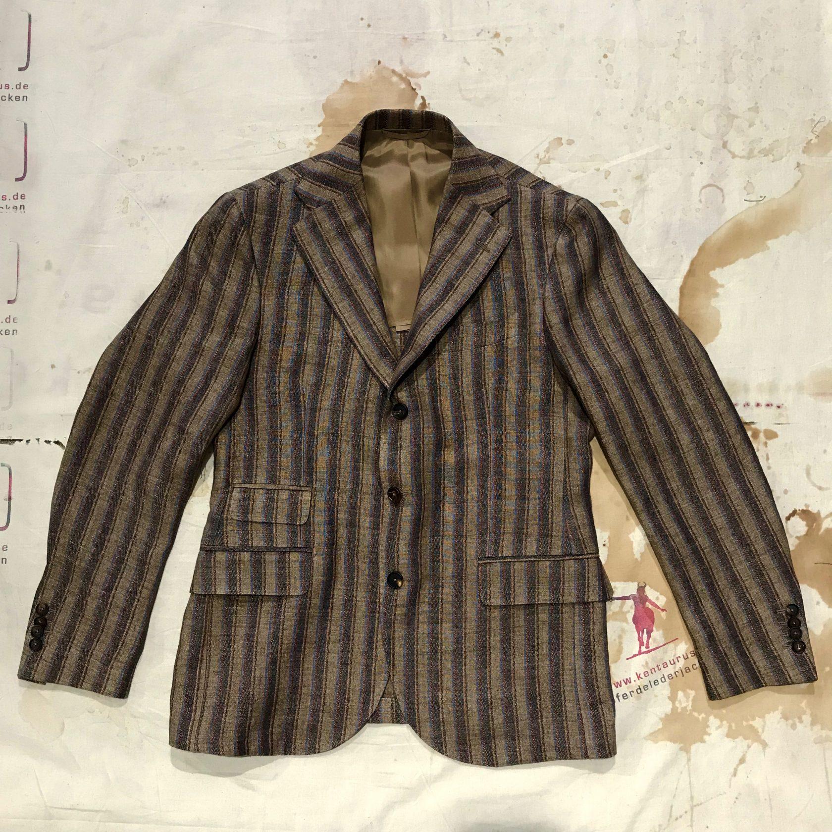 S.Piccolo striped linen jacket
