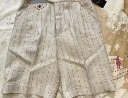 Haversack striped linen shorts