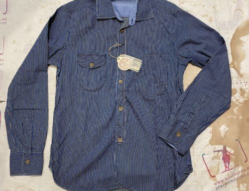 Scartilab 315SW362 Hickory Stripe Cotton Shirt