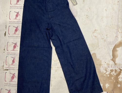 Scartilab W900SW325 100% cotton pant blue